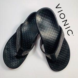 Vionic Tide Rhinestone Toe Post Sandals